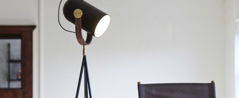Lampadaire carronade noir led o45cm h175cm le klint normal