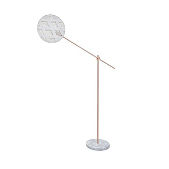 Lampadaire chanpen diamond blanc cuivre o36cm h142 214cm forestier normal