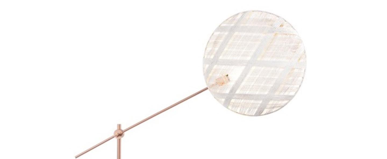 Lampadaire chanpen diamond blanc cuivre o52cm h150 230cm forestier normal