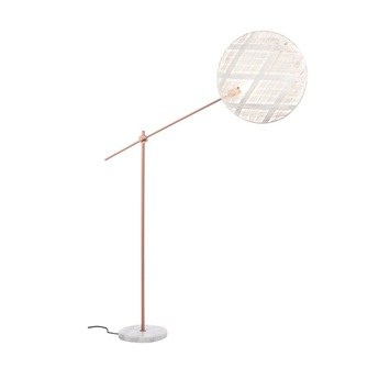 Lampadaire chanpen diamond blanc cuivre o52cm h150 230cm forestier normal