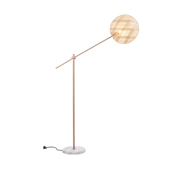 Lampadaire chanpen diamond naturel cuivre o36cm h142 214cm forestier normal