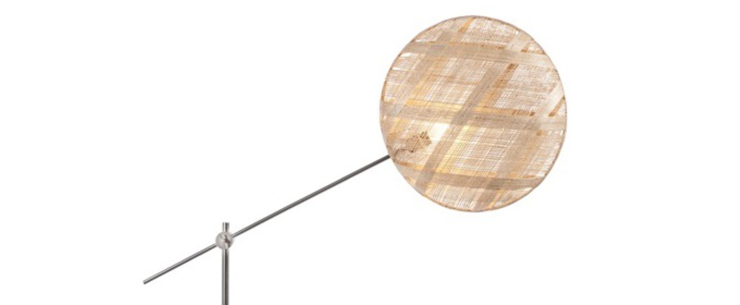 Lampadaire chanpen diamond naturel gris o52cm h150 230cm forestier normal