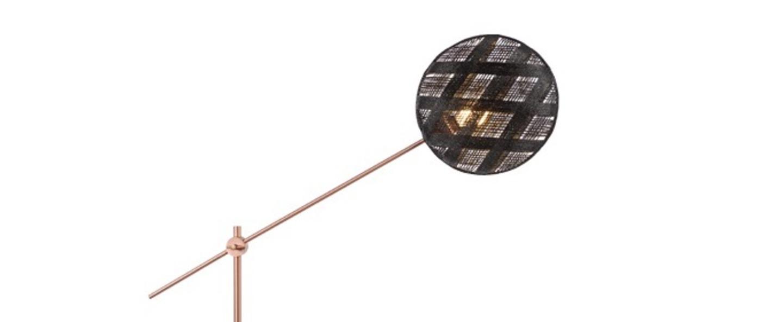 Lampadaire chanpen diamond noir cuivre o36cm h142 214cm forestier normal