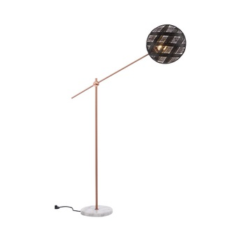Lampadaire chanpen diamond noir cuivre o36cm h142 214cm forestier normal