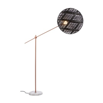 Lampadaire chanpen diamond noir cuivre o52cm h150 230cm forestier normal
