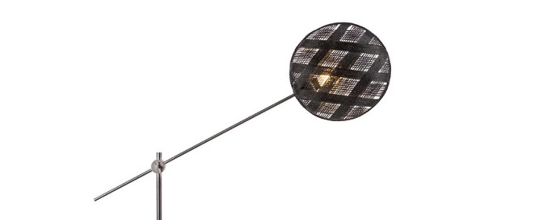 Lampadaire chanpen diamond noir gris o36cm h142 214cm forestier normal