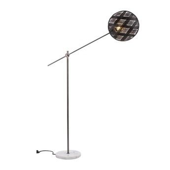 Lampadaire chanpen diamond noir gris o36cm h142 214cm forestier normal