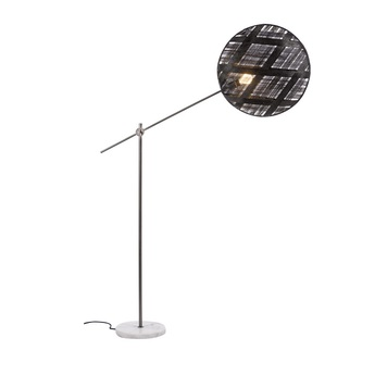 Lampadaire chanpen diamond noir gris o52cm h150 230cm forestier normal