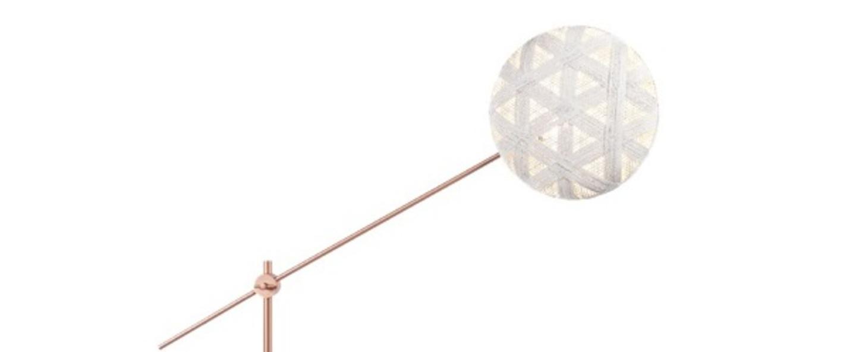 Lampadaire chanpen hexagonal blanc cuivre o36cm h142 214cm forestier normal