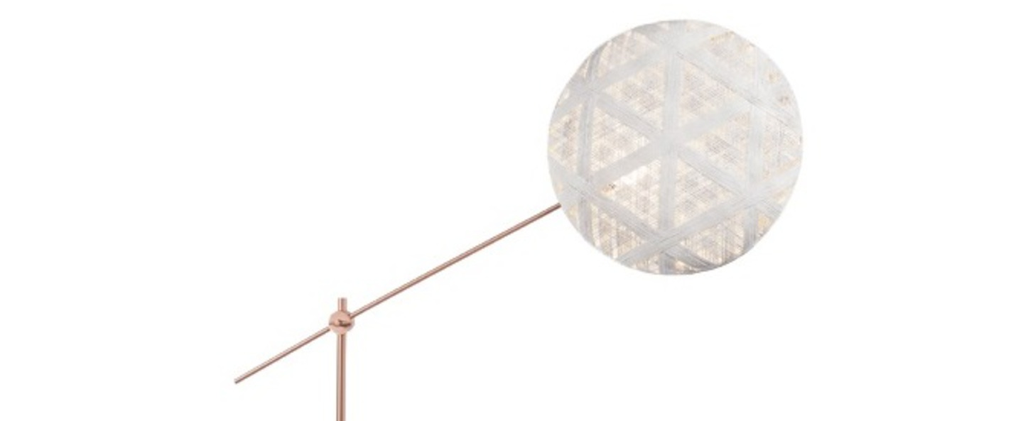 Lampadaire chanpen hexagonal blanc cuivre o52cm h150 230cm forestier normal