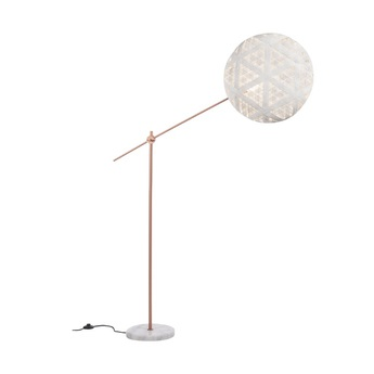 Lampadaire chanpen hexagonal blanc cuivre o52cm h150 230cm forestier normal
