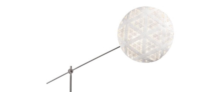 Lampadaire chanpen hexagonal blanc gris o52cm h150 230cm forestier normal
