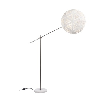 Lampadaire chanpen hexagonal blanc gris o52cm h150 230cm forestier normal