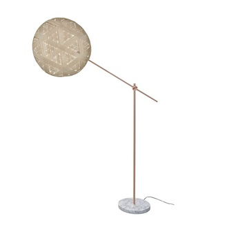 Lampadaire chanpen hexagonal naturel cuivre o52cm h150 230cm forestier normal