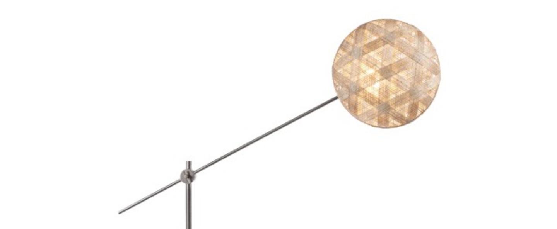 Lampadaire chanpen hexagonal naturel gris o36cm h142 214cm forestier normal