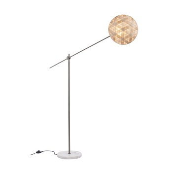 Lampadaire chanpen hexagonal naturel gris o36cm h142 214cm forestier normal