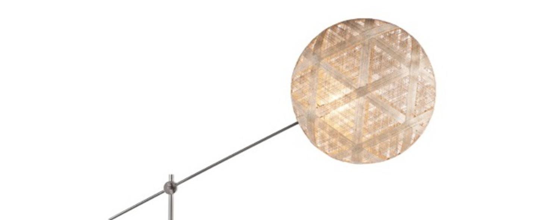 Lampadaire chanpen hexagonal naturel gris o52cm h150 230cm forestier normal
