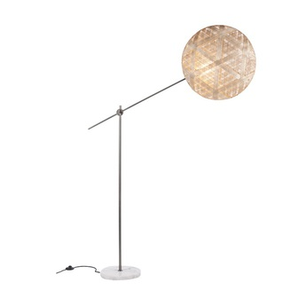 Lampadaire chanpen hexagonal naturel gris o52cm h150 230cm forestier normal