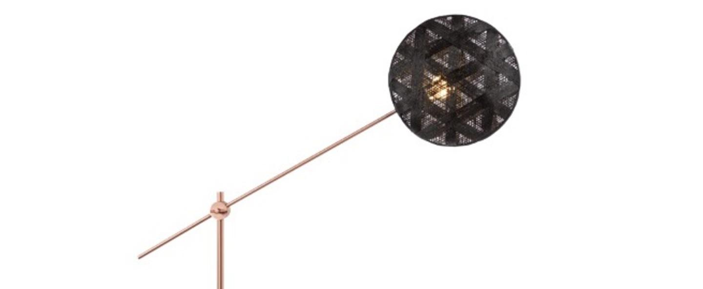 Lampadaire chanpen hexagonal noir cuivre o36cm h142 214cm forestier normal