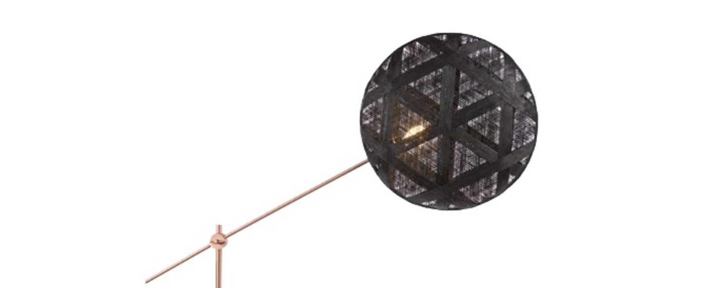 Lampadaire chanpen hexagonal noir cuivre o52cm h150 230cm forestier normal