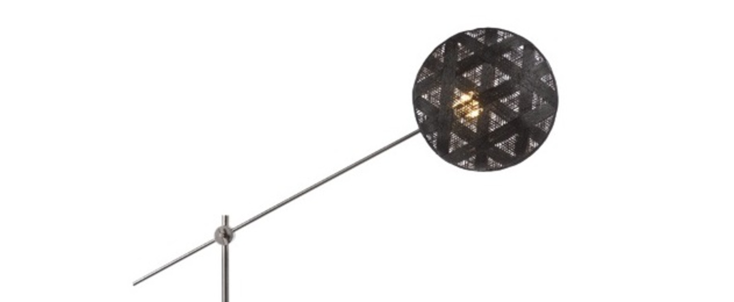 Lampadaire chanpen hexagonal noir gris o36cm h142 214cm forestier normal