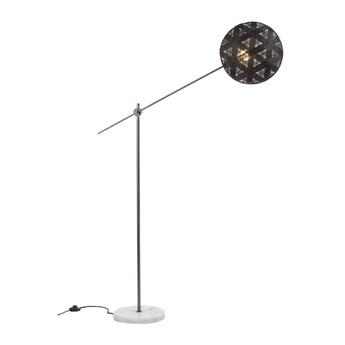 Lampadaire chanpen hexagonal noir gris o36cm h142 214cm forestier normal