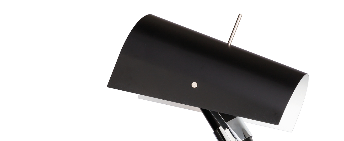 Lampadaire claritas noir l47cm h164cm nemo lighting normal