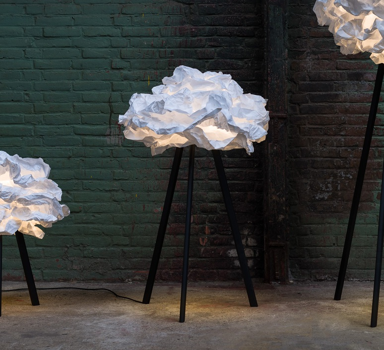 Cloud nuage nicolas pichelin proplamp 109 floor black luminaire lighting design signed 23013 product