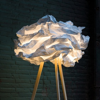 Lampadaire cloud nuage blanc h109cm proplamp normal