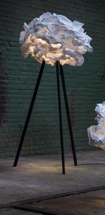 Lampadaire cloud nuage blanc h159cm o90cm pieds noir proplamp normal