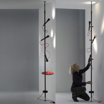 Lampadaire colibri noir h300cm martinelli luce normal