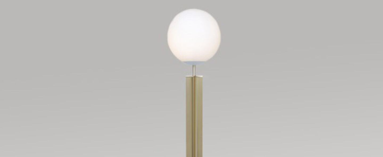 Lampadaire column laiton noir o25cm h183cm atelier areti normal