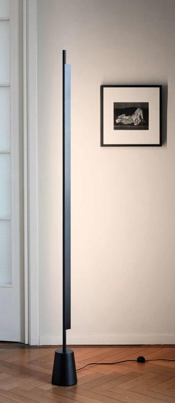 Lampadaire compendium d81tn noir led o15cm h185cm luceplan normal