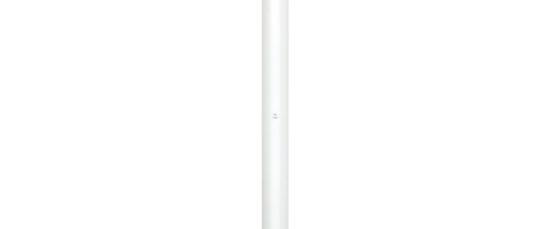 Lampadaire concorde blanc led o12cm h178cm lumen center normal