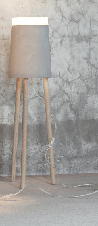 Lampadaire concrete gris blanc led o27cm h100cm serax normal