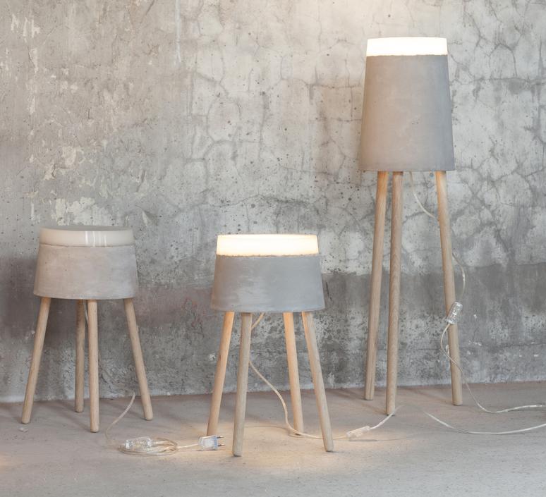 Concrete renate vos lampadaire floor light  serax b7214485  design signed 59963 product