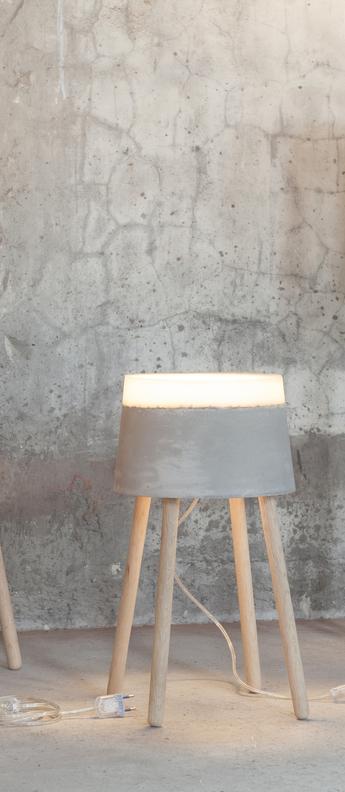 Lampadaire concrete gris blanc led o33cm h51cm serax normal