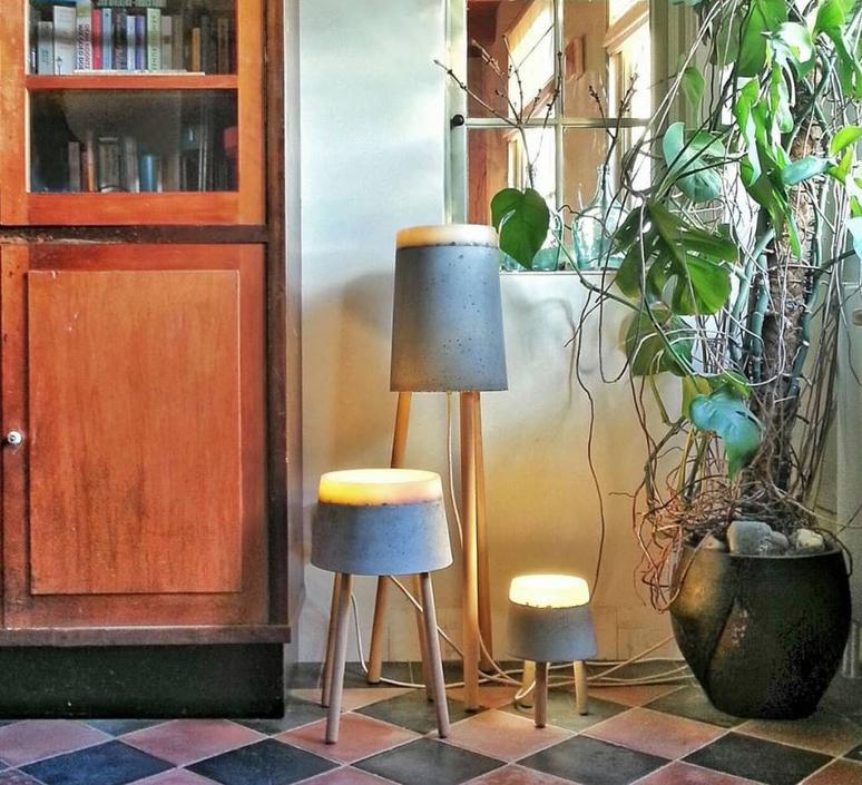 Concrete renate vos lampadaire floor light  serax b7214484  design signed 59957 product
