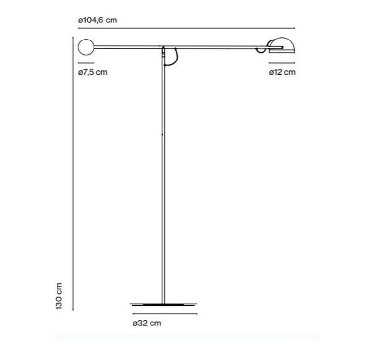 Copernica p studio ramirez i carrillo lampadaire floor light  marset a686 008  design signed 61636 product