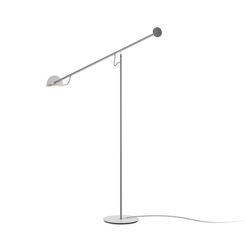 Lampadaire copernica p nickel satine graphite blanc led 2700k 427lm dimmable l104 6cm h130cm marset normal