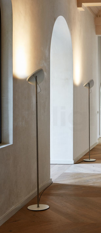 Lampadaire copernica p190 nickel satine blanc led 2700k 3380lm dimmable o31cm h190cm marset normal