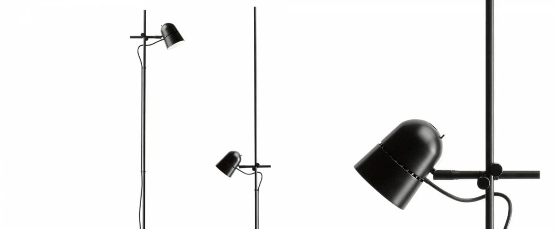 Lampadaire counterbalance d73nt noir led 2700k 800lm o24cm h170cm luceplan normal