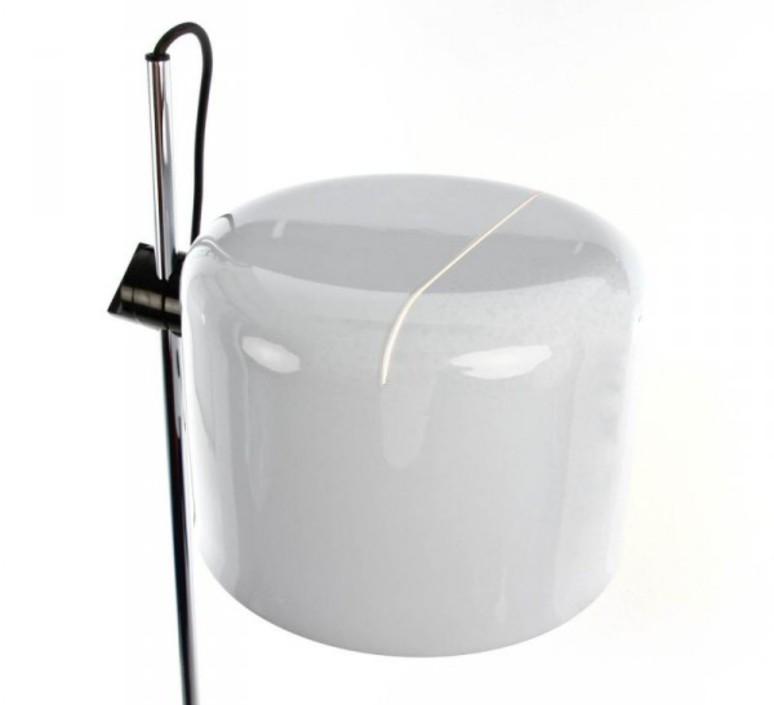 Coupe joe colombo oluce 3321 blanc luminaire lighting design signed 22519 product