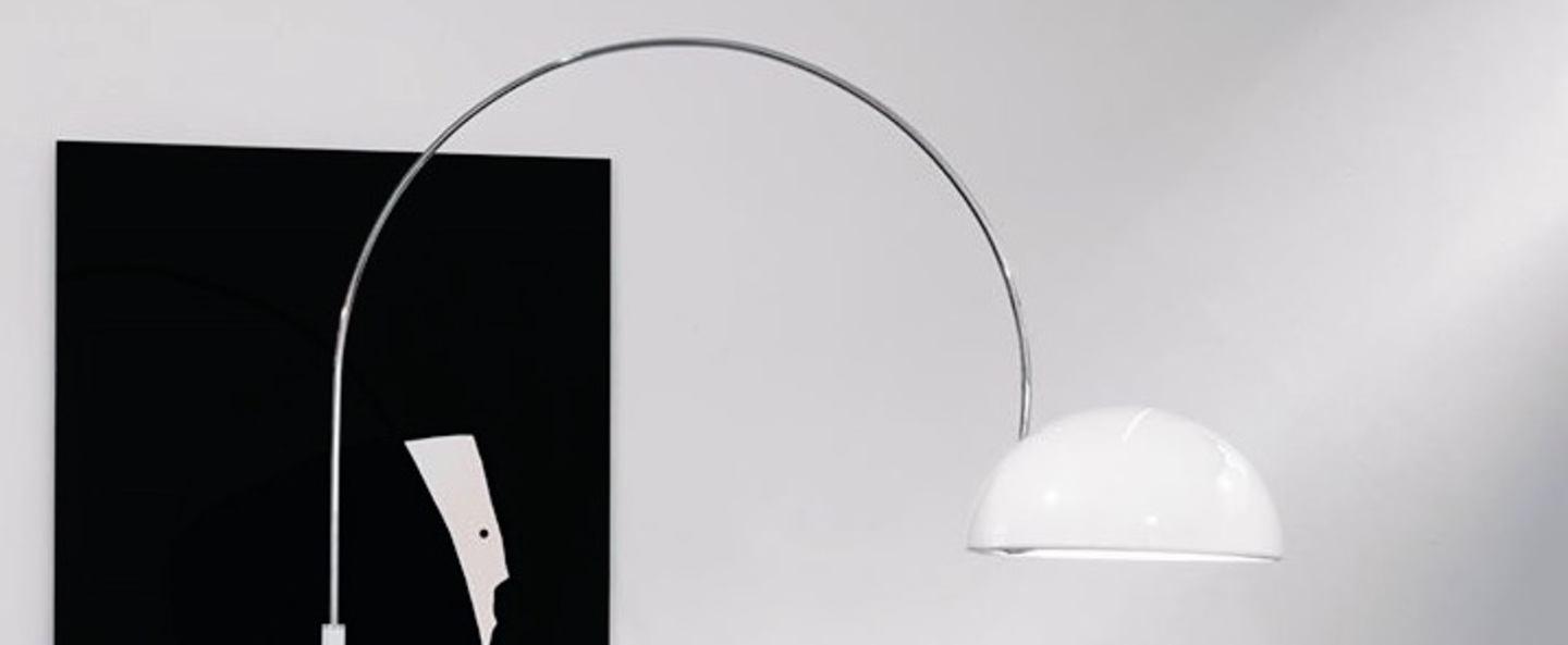 Lampadaire coupe blanc h190cm oluce normal