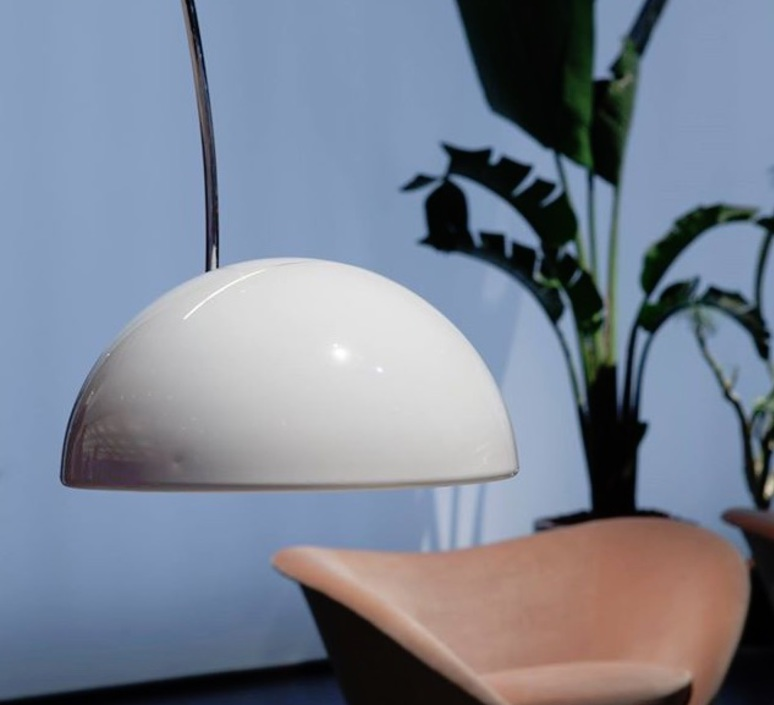 Coupe joe colombo oluce 3320 r blanc luminaire lighting design signed 22496 product