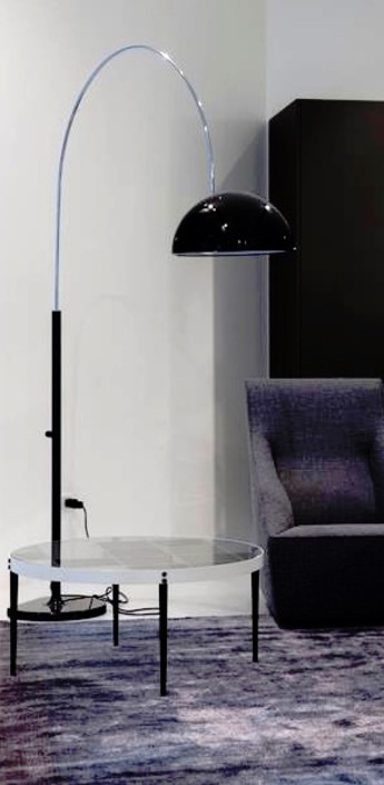 Lampadaire coupe noir h190cm oluce normal