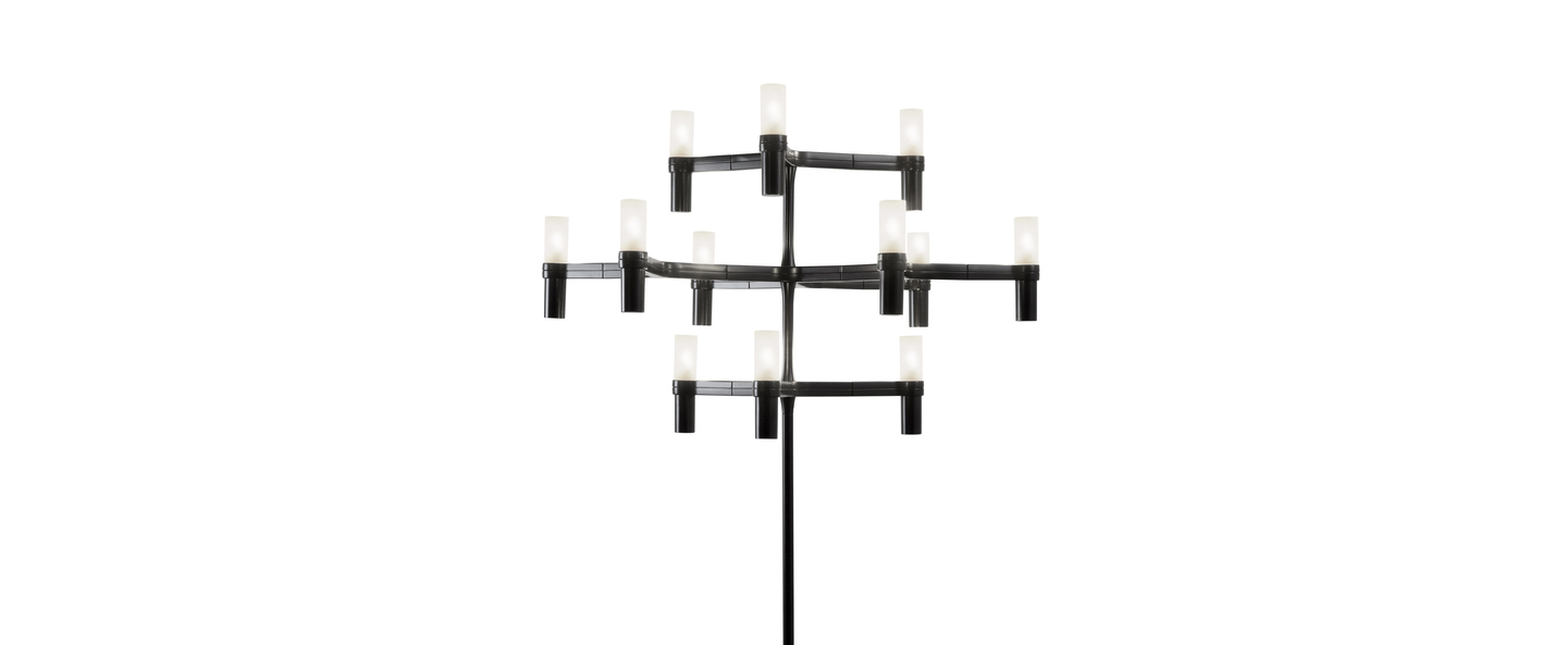 Lampadaire crown noir l77cm h180cm nemo lighting normal