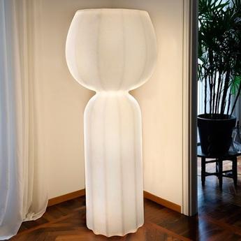 Lampadaire cucun blanc o77cm h190cm slide normal