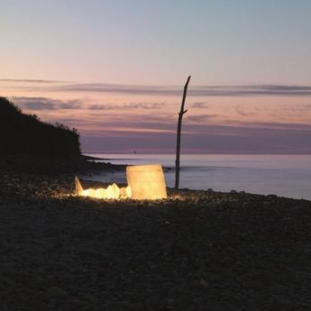 Lampadaire d exterieur alibabig blanc h130cm karman normal