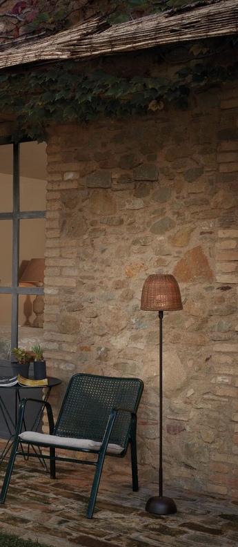 Lampadaire d exterieur atticus p 114 r marron ip66 o20cm h114cm bover normal